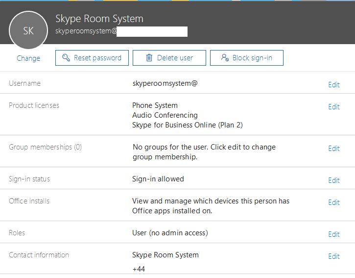 Deploying a (Polycom MSR) Skype Room System v2 in Office 365 - Lee
